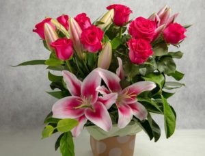 Roses and Lillies in a box