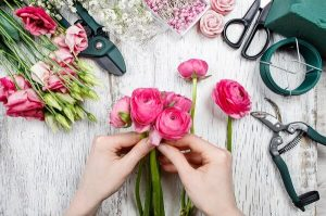 Creating a beautiful posy